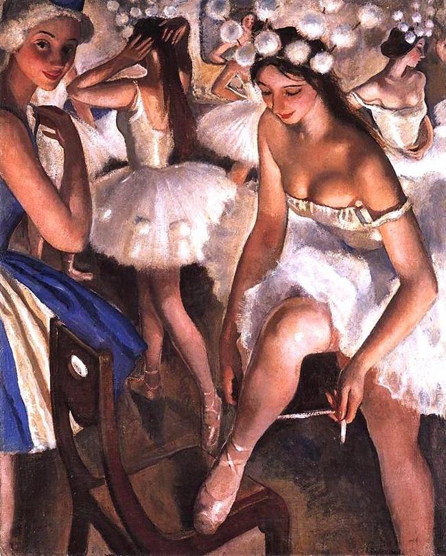 """балетная уборная. Снежинки"", 1923"
