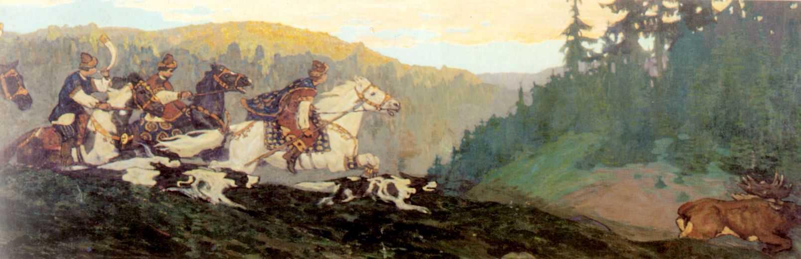 "Николай Рерих ""Утро княжей охоты"", 1901"