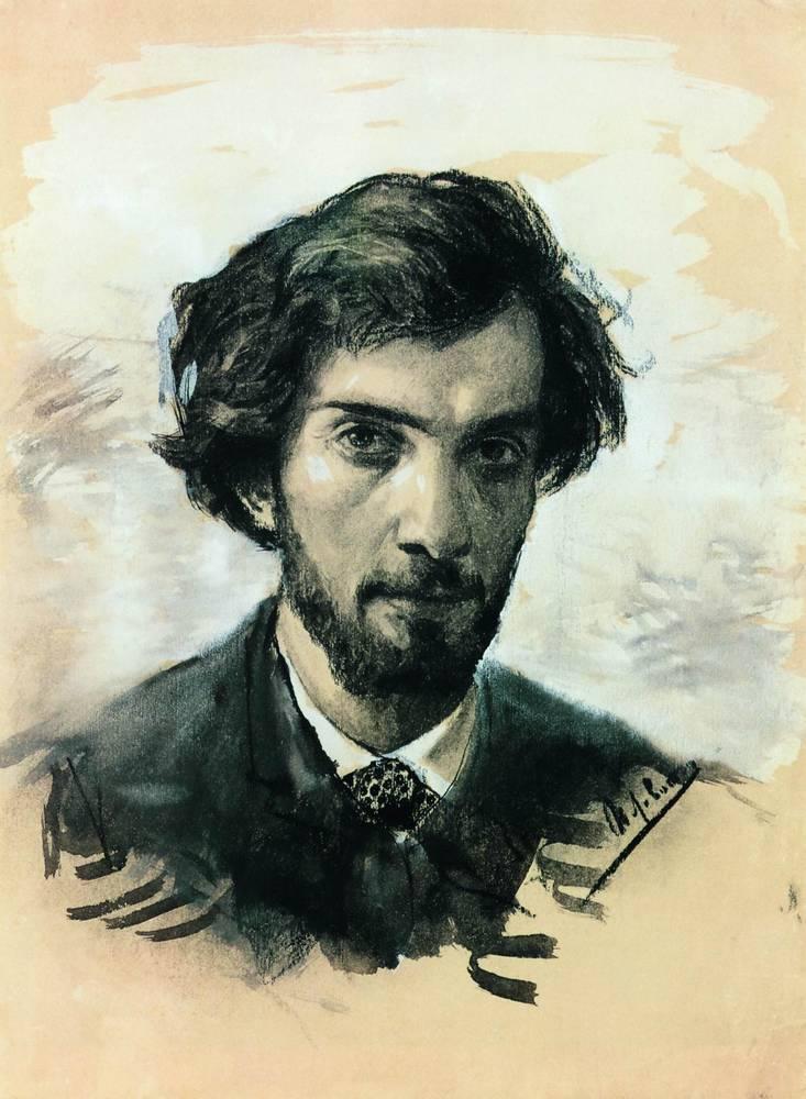 "Исаак Левитан ""Автопортрет"", 1880"