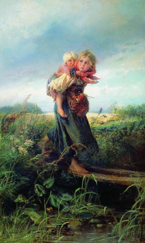 """Константин Маковский """"Дети, бегущие от грозы"""""""