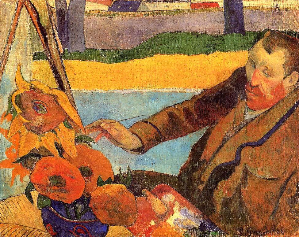 Во время своего приезда в Арь Поль Гоген написал портрет Ван Гога за работой