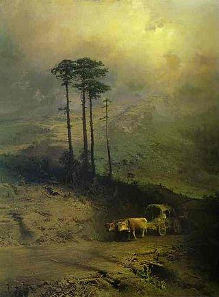 """Фёдор Васильев """"В Крымских горах"""", 1873"""