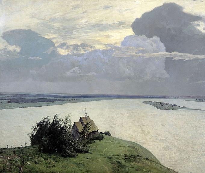 Исаак Левитан «Над вечным покоем», 1894.