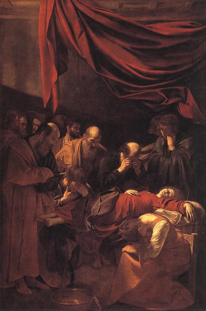 "Микеланджело да Караваджо ""Смерть Марии"", 1605-1606"