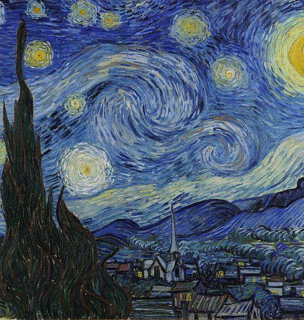 В картине «Звездная ночь» художнику удалось передать стихийность Вселенной