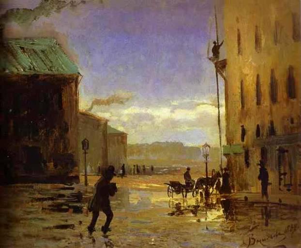 """Натурой в картине """"После дождя"""" 1867 года для Васильева послужил Петербург"""