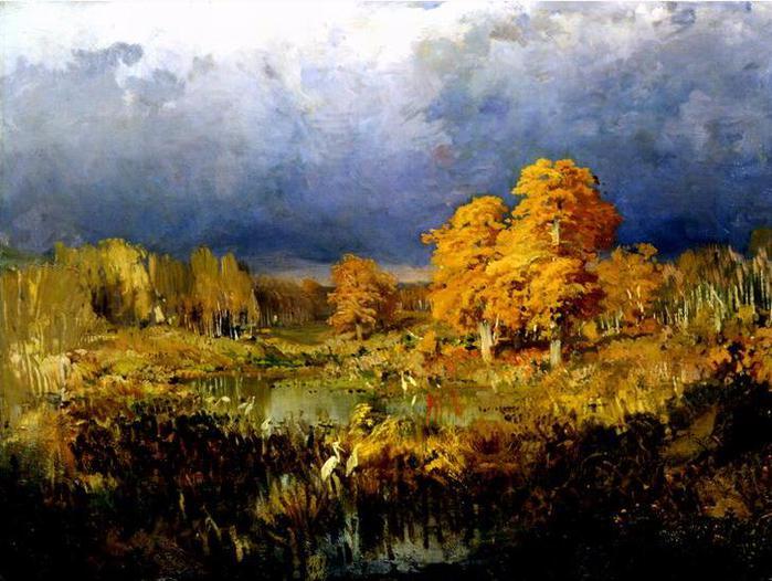 """Фёдор Васильев """"Болото в лесу"""", 1872"""