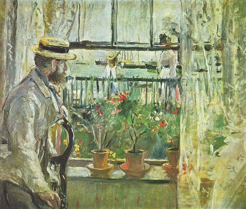 """Берта Моризо """"Эжен Мане на острове Уайт"""", 1875"""