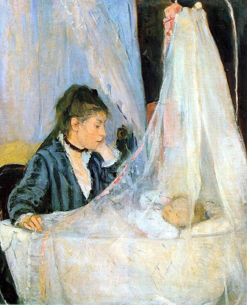 """Берта Моризо """"У колыбели"""", 1872"""
