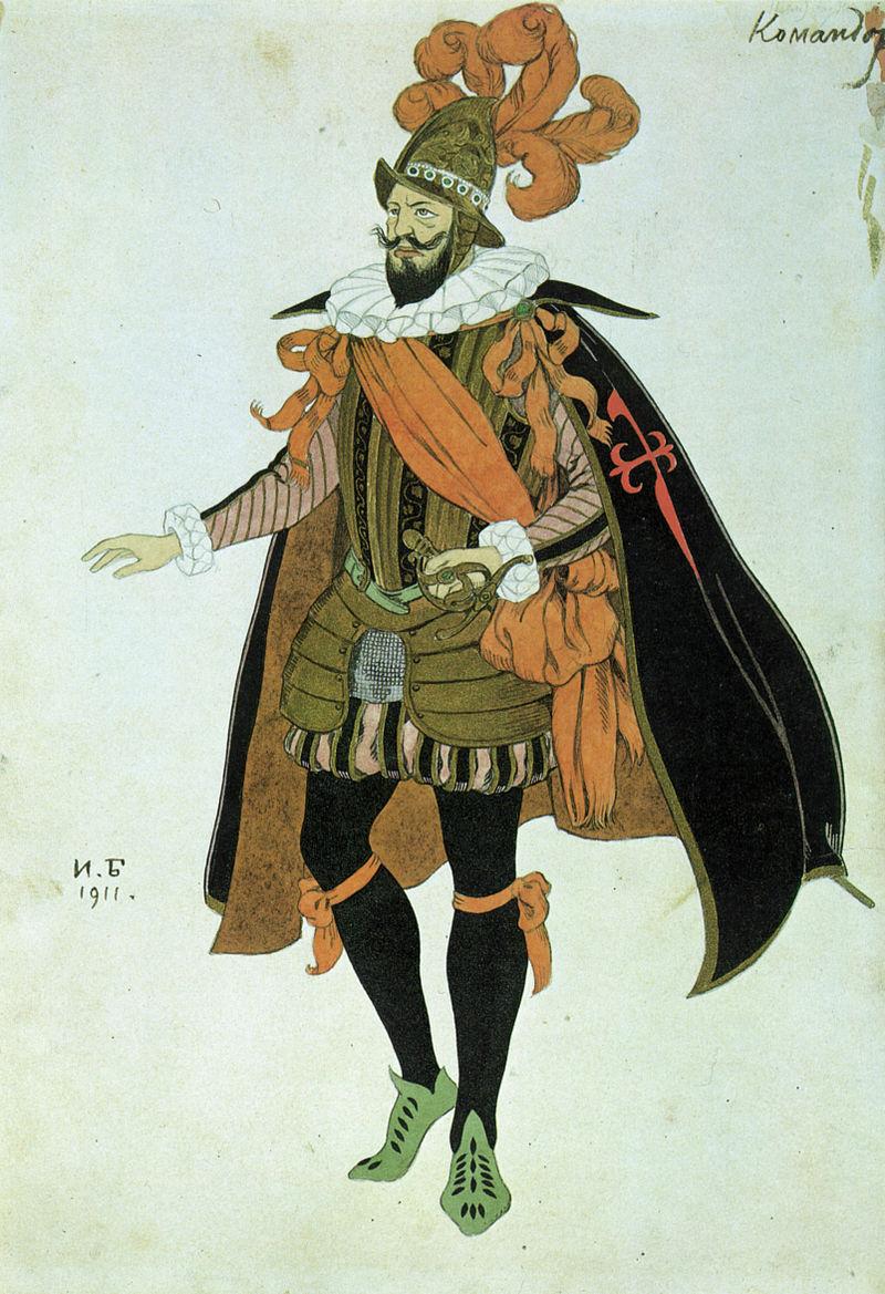 Эскиз костюма Командора к драме Лопе де Веги «Фуэнте Овехуна». Старинный театр. 1911