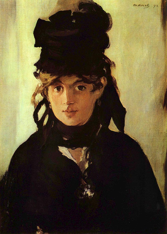 """Эдуард Мане """"Берта Моризо с букетом фиалок"""", 1872"""