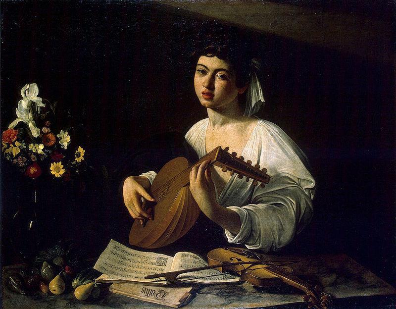 "Микеланджело да Караваджо ""Юноша с лютней"", 1595-596"