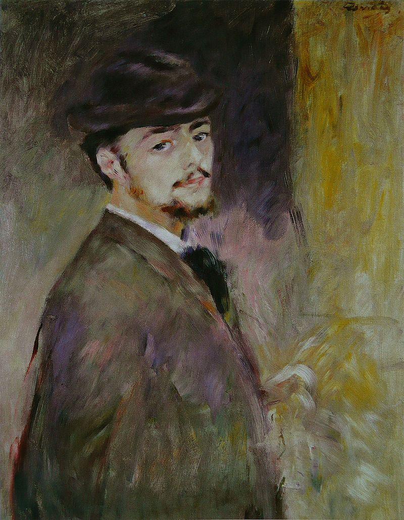 Ренуар написал этот автопортрет в 1876 году
