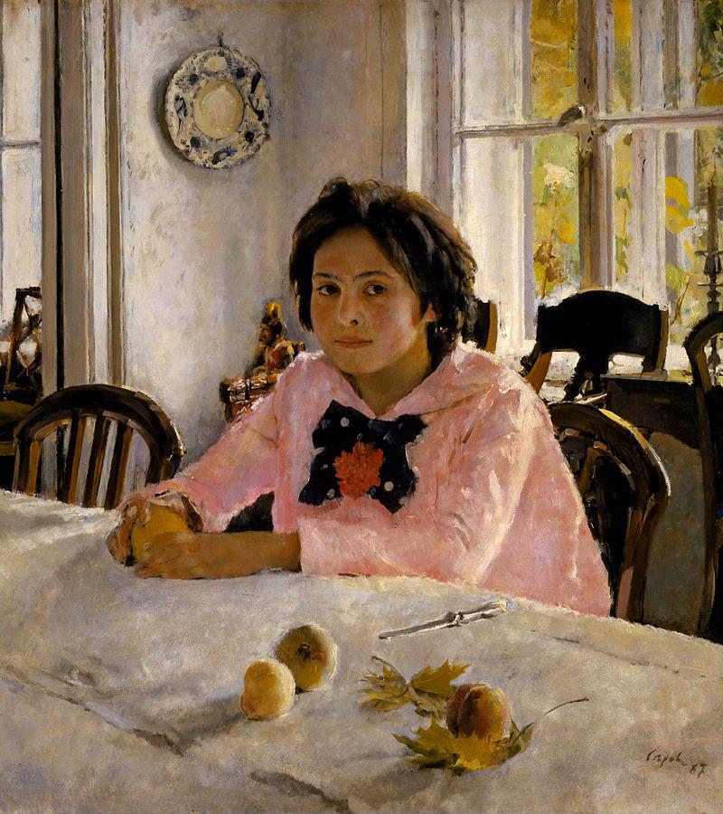 """Валентин Серов, """"Девочка с персиками"""", 1887"""