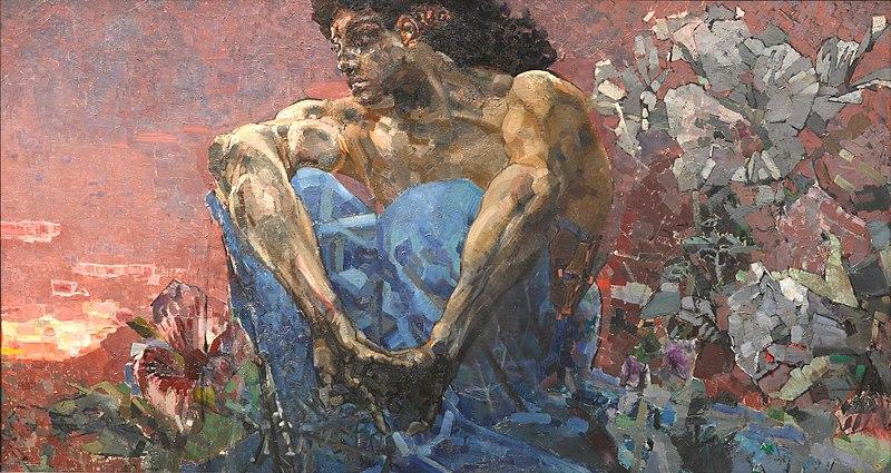 """Картину """"Демон сидящий"""" можно увидеть в Третьяковской галерее"""