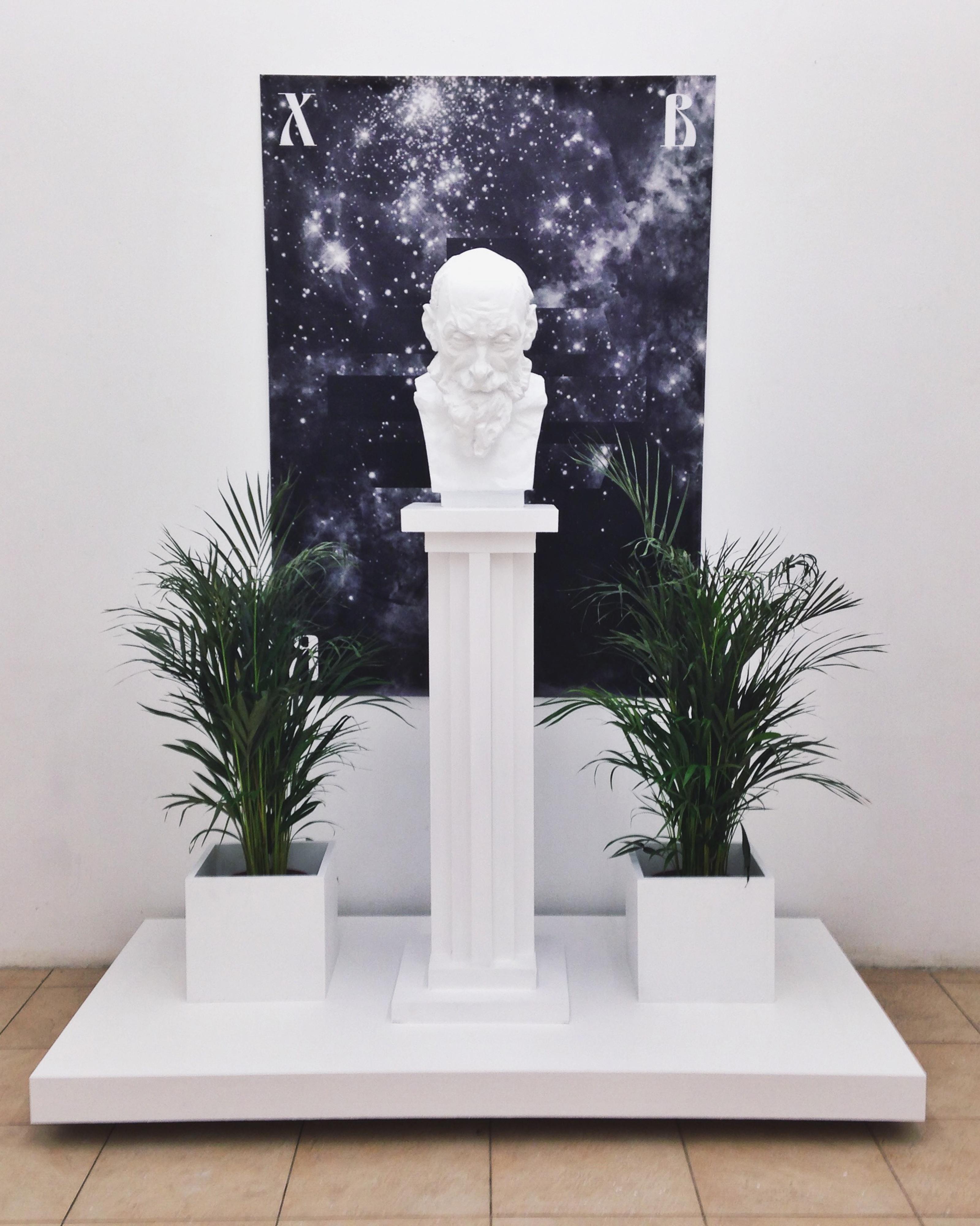"""Арсений Жиляев """"Я хочу верить"""", мемориальная выставка (фрагмент инсталляции)"""