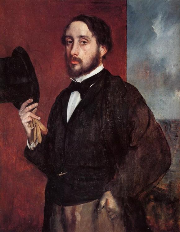 "Эдгар Дега ""Автопортрет с приветствием"" 1862"