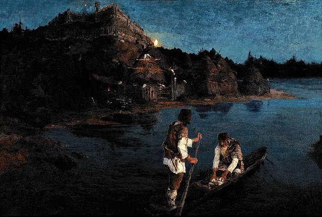 "Николай Рерих ""Гонец (Восстал род на род), 1897"