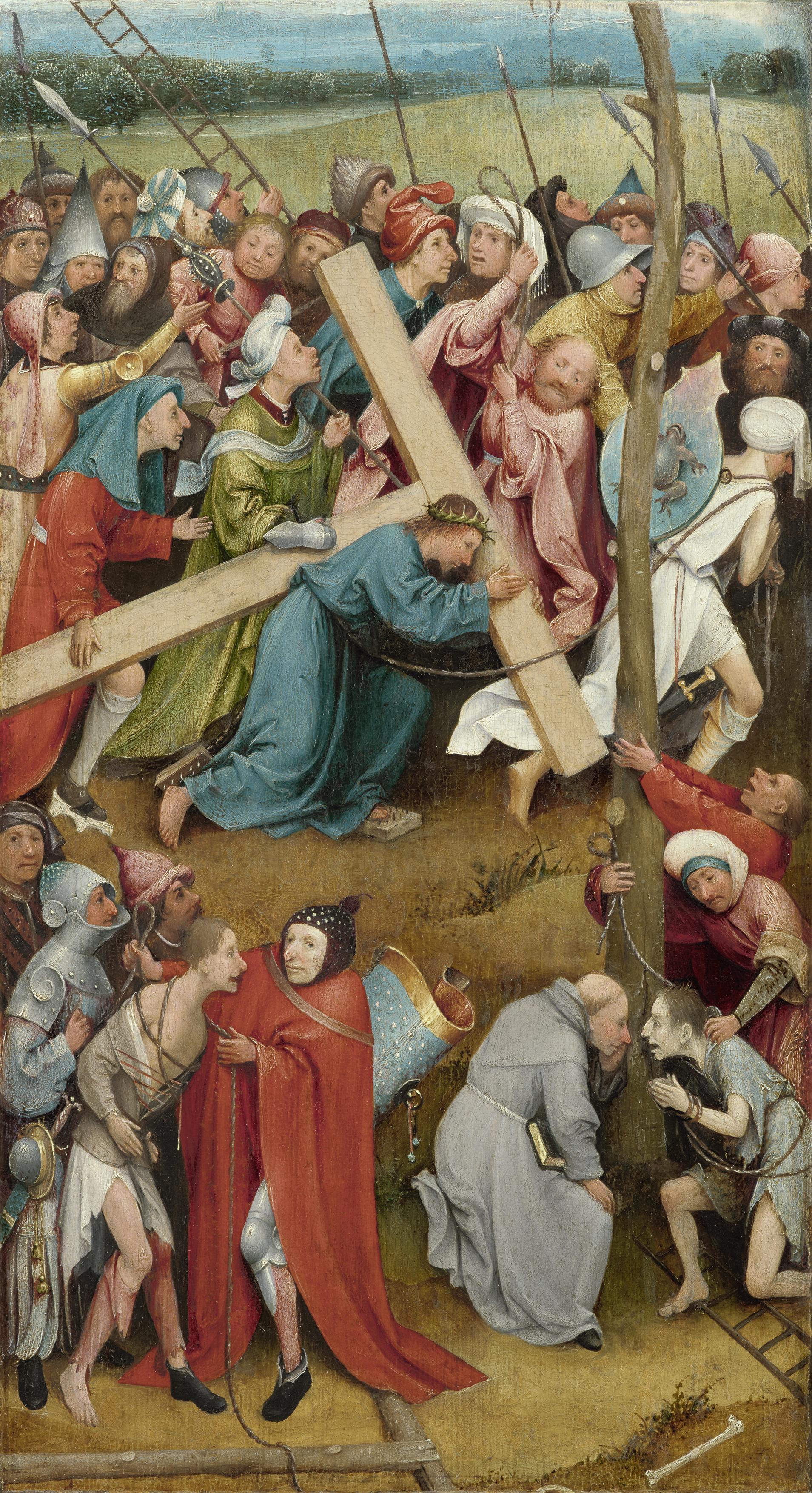 """Иероним Босх """"Несение креста"""", 1480"""