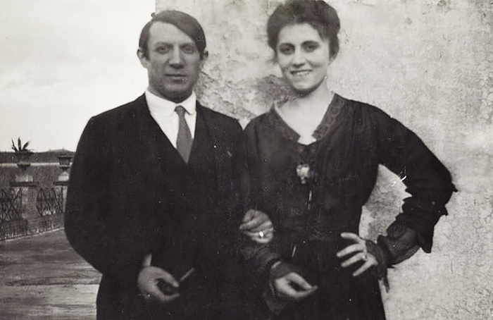 Пабло Пикассо и Ольга Хохлова в Риме