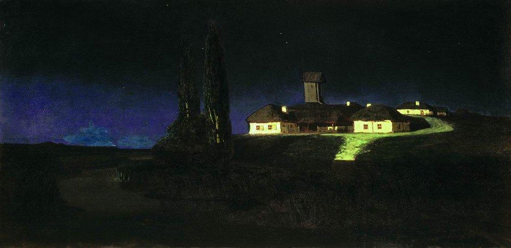 """Архип Куинджи """"Украинская ночь"""", 1876"""
