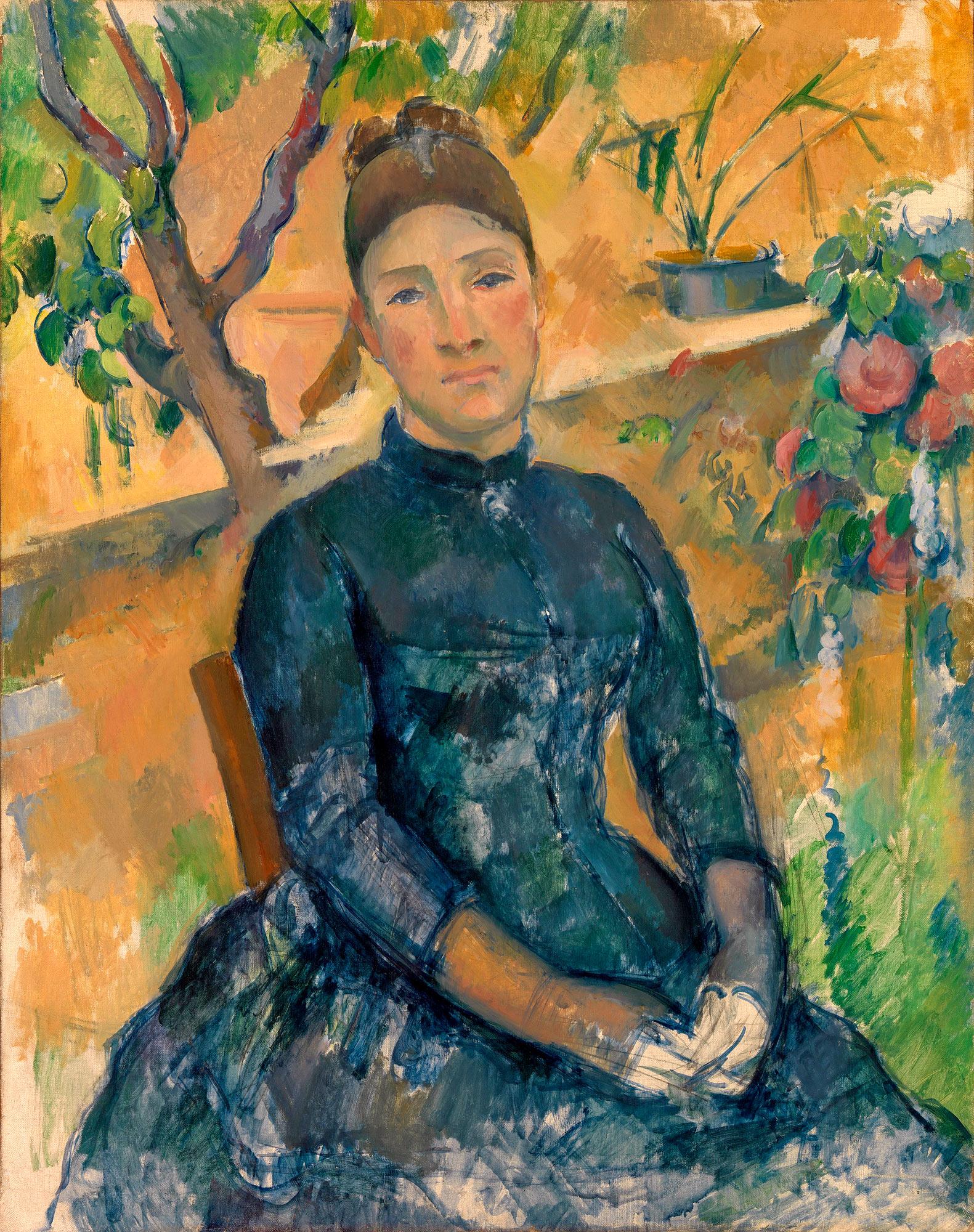 """""""Мадам Сезанн в оранжерее"""", 1891"""
