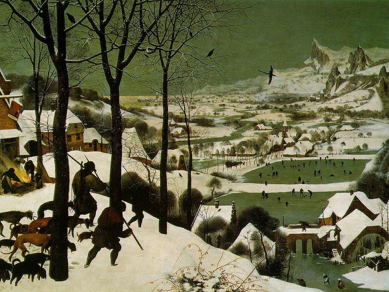 """""""Охотники на снегу"""", 1565"""