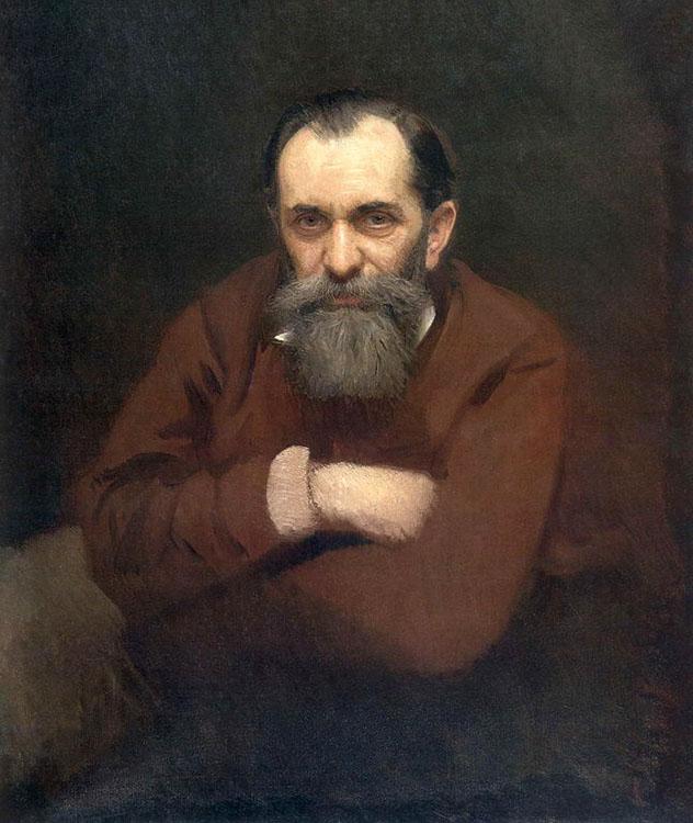 """Иван Крамской """"Портрет Василия Перова"""", 1881"""