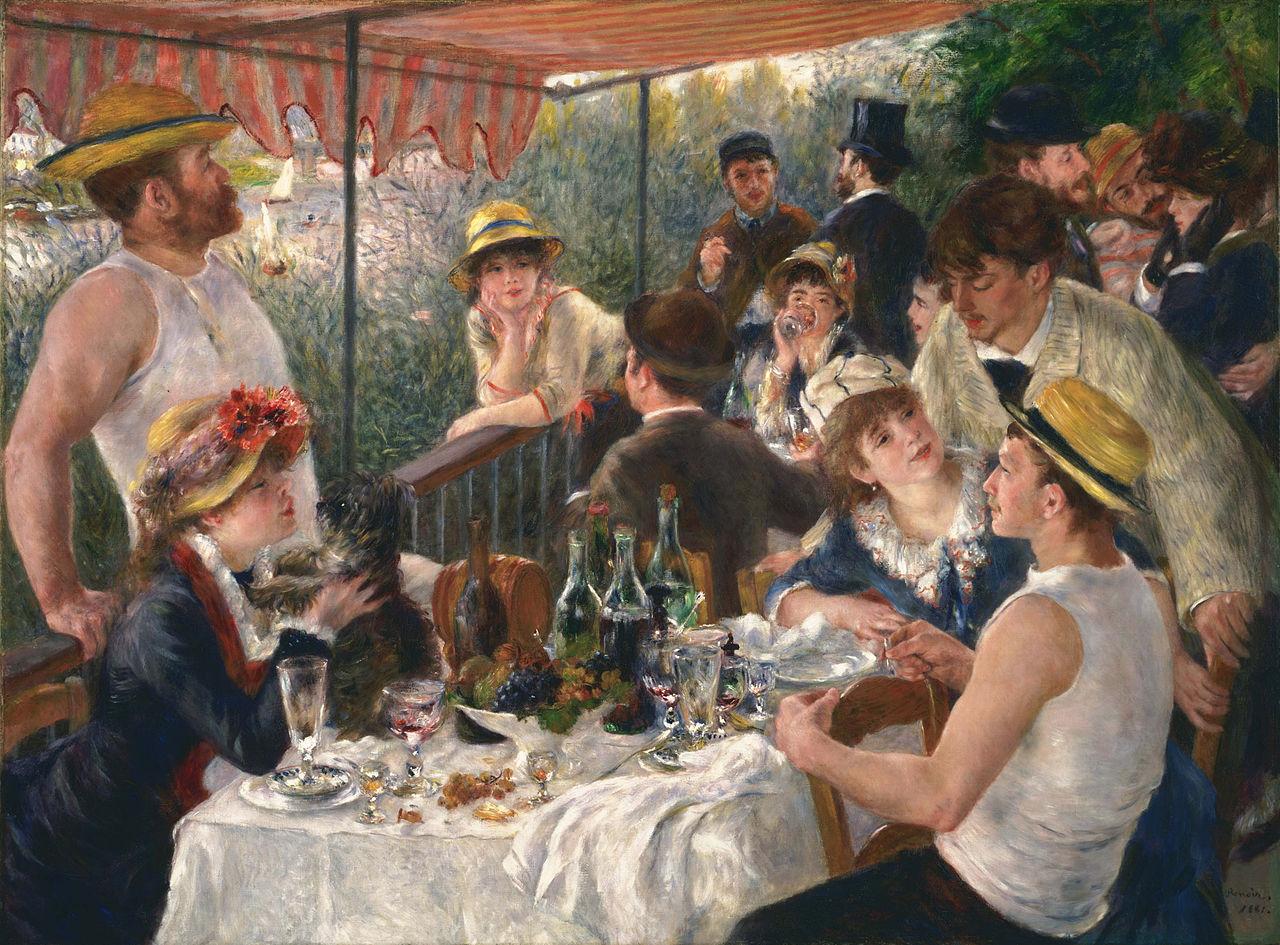 "Огюст Ренуар ""Завтрак гребцов"", 1880-1881"