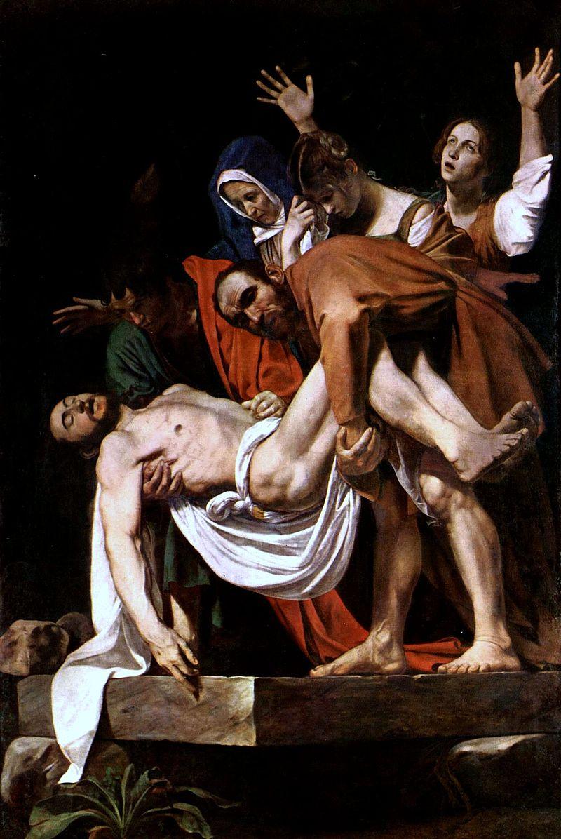 """Микеланджело да Караваджо """"Положение во гроб"""", 1603"""