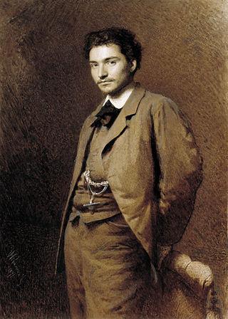Портрет художника Ф. А. Васильева работы Ивана Крамского, 1871