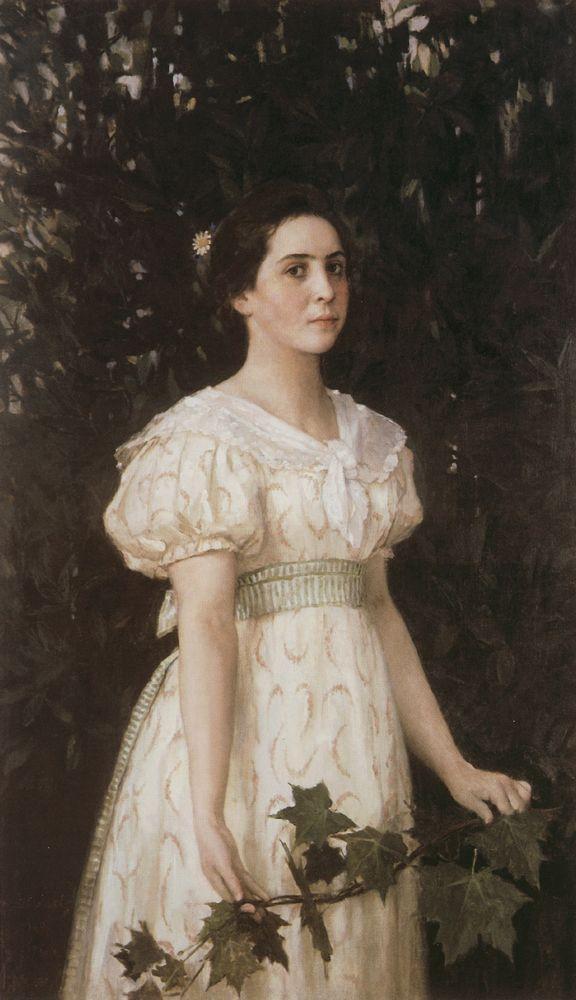 """Виктор Васнецов """"Девушка с кленовой веткой"""", 1896"""
