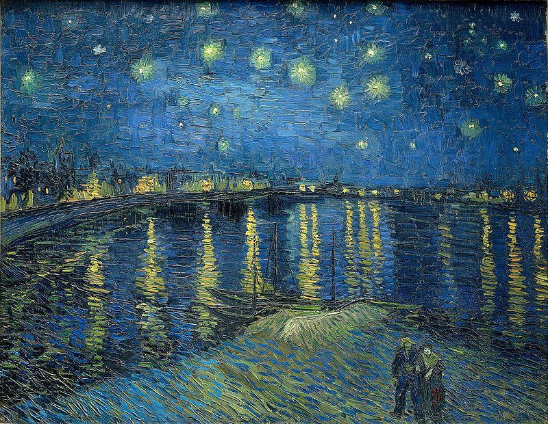 """Сейчас картина """"Звездная ночь над Роной"""" хранится в Париже"""