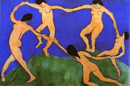 """Первый вариант картины """"Танец"""" (1909) хранится в Музее современного искусства в Нью-Йорке"""