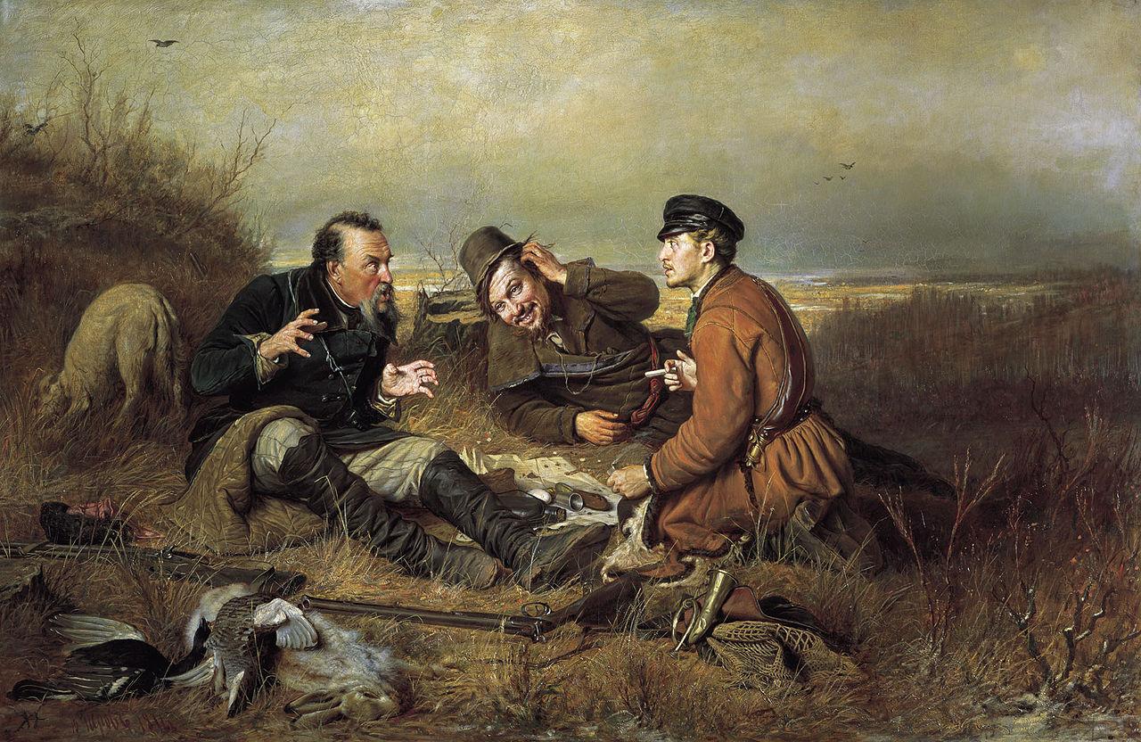 """Василий Перов """"Охотники на привале"""", 1871"""