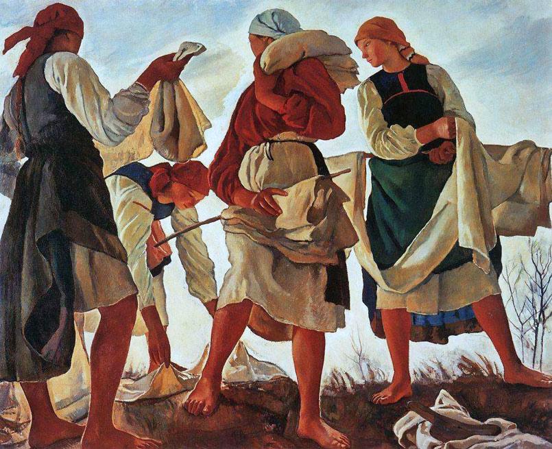 """Беление холста"", 1917"