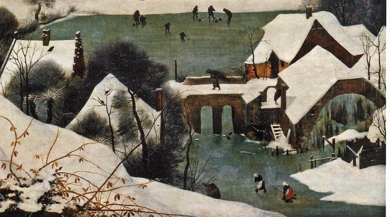 Детали картины - мост и мельница