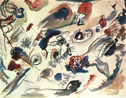 Первая абстрактная акварель, созданная Василием Кандинским