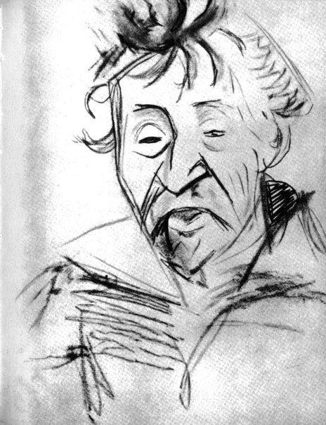 Портрет Репина, сделанный Маяковским