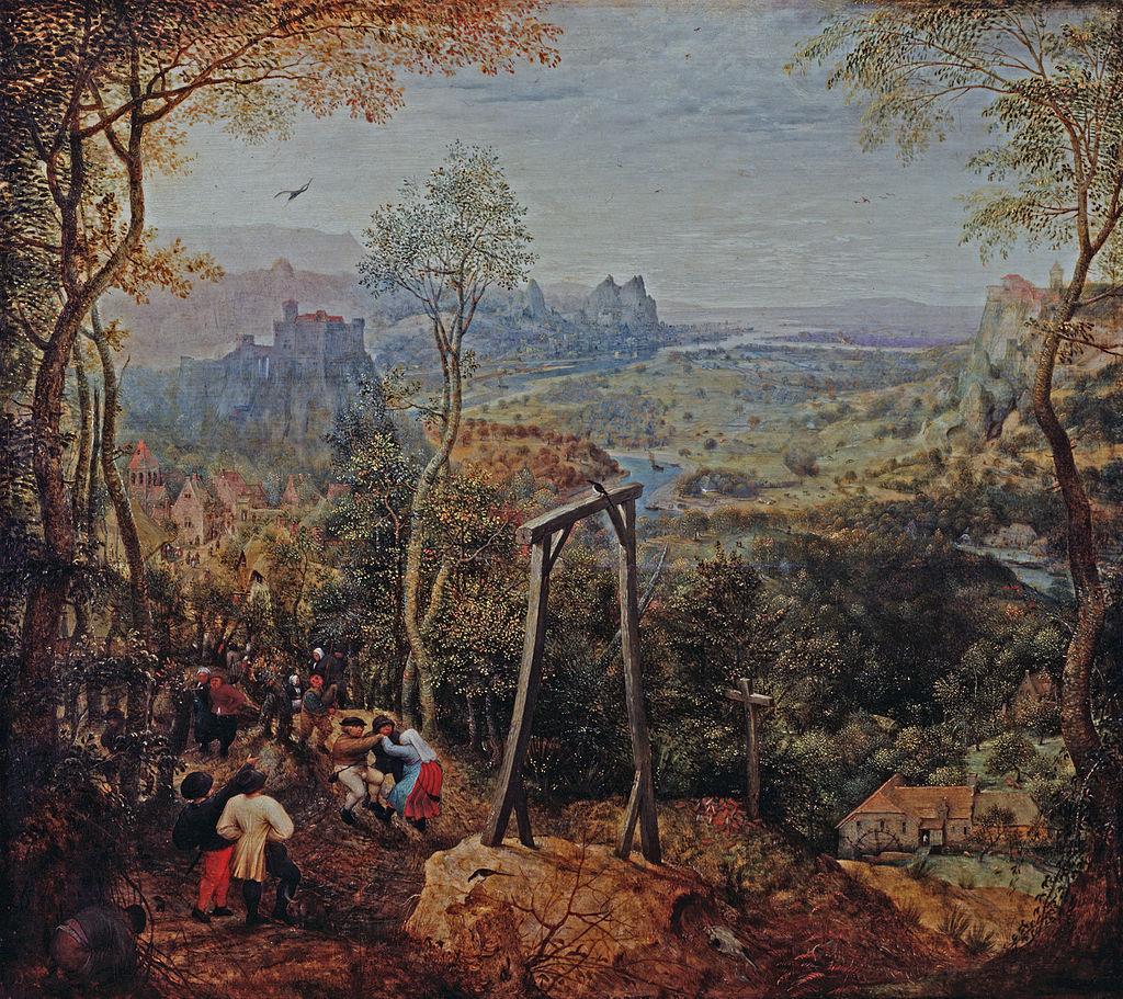 """""""Сорока на виселице"""", 1568"""