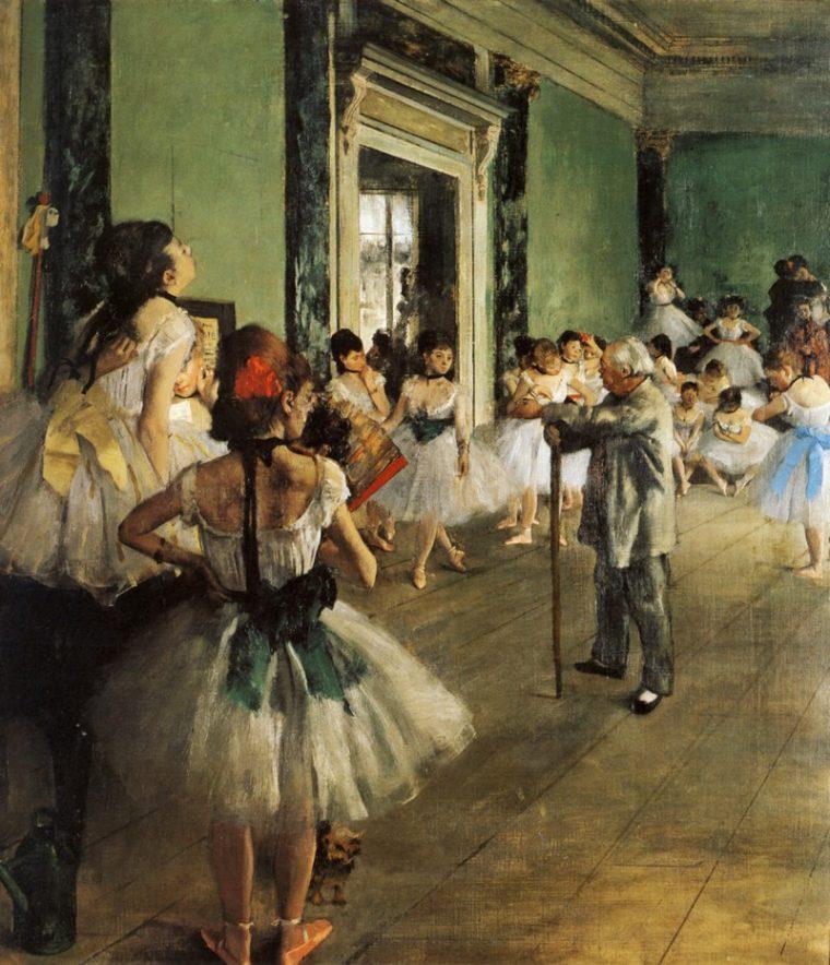 """Эдгар Дега """"Таневальный класс"""" 1871-1874"""