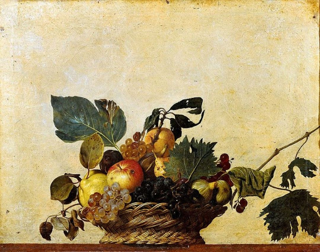 """Микеланджело да Караваджо """"Корзина с фруктами"""", 1596"""