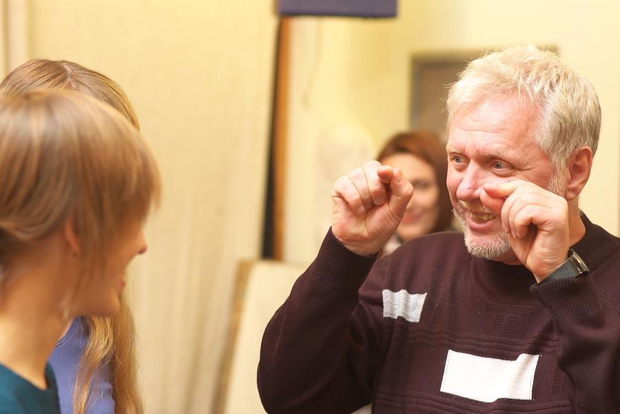 Алексей Владимирович на занятии (фото Сергея Березы)