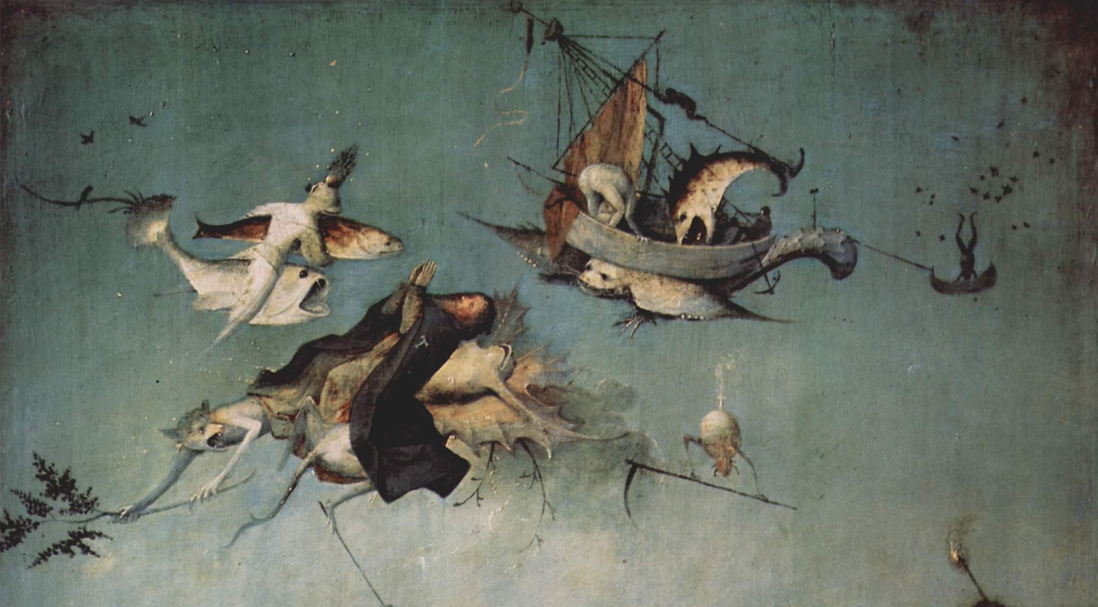 """Иероним Босх """"Искушение св. Антония"""" (деталь). 1505-1506"""