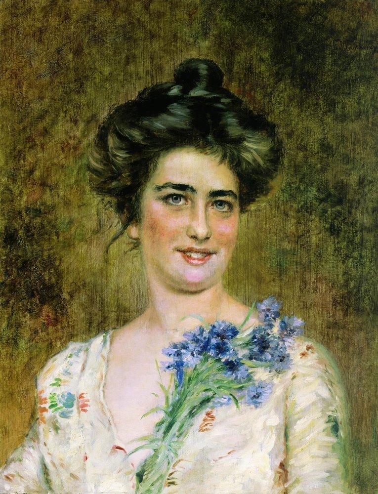 Портрет второй жены Константина Маковского Юлии Павловны, хранящийся в музее им. И. Н. Крамского