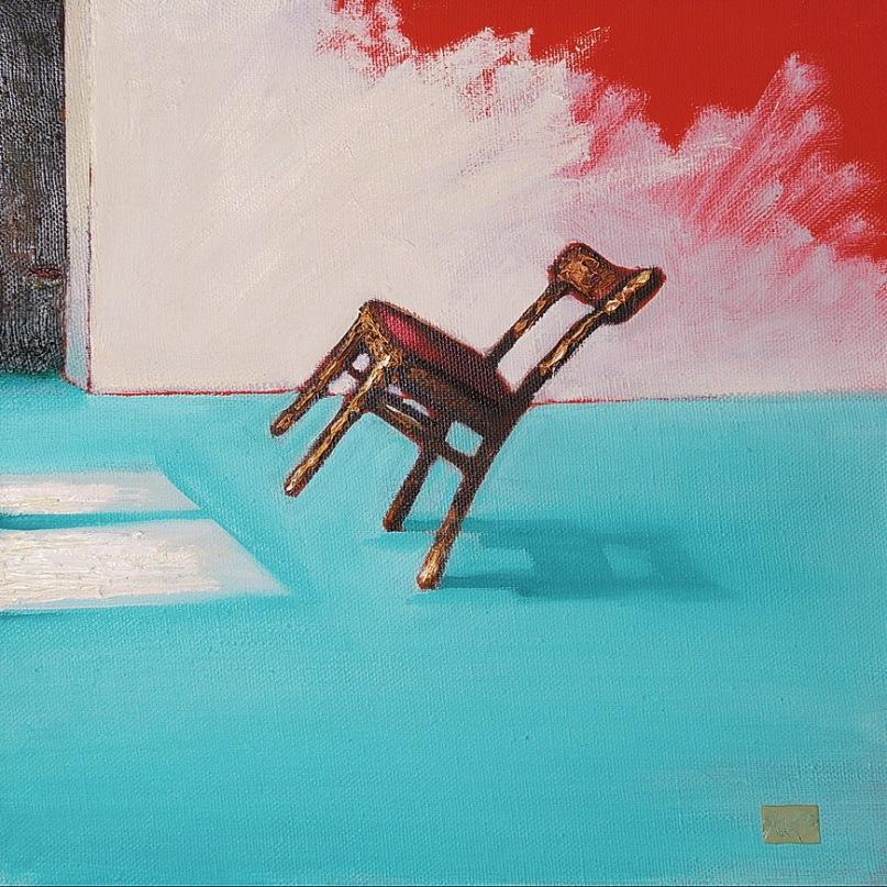 Даже мебель на холсте превращается в произведение искусства
