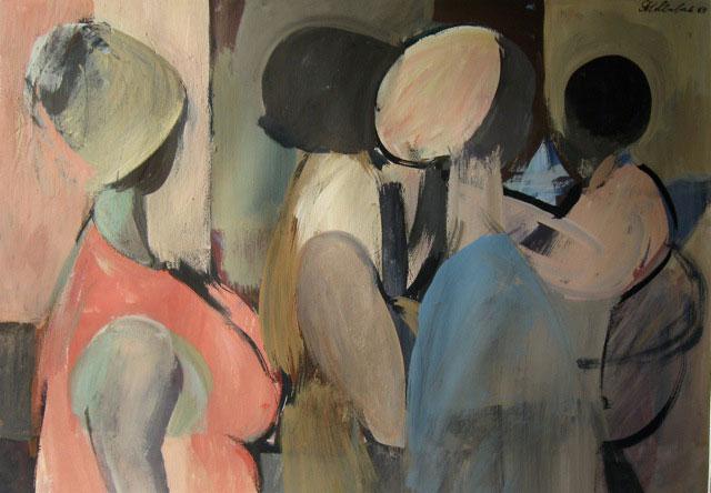 """""""Три женщины и ребенок"""", работа Сергея Голлербаха"""