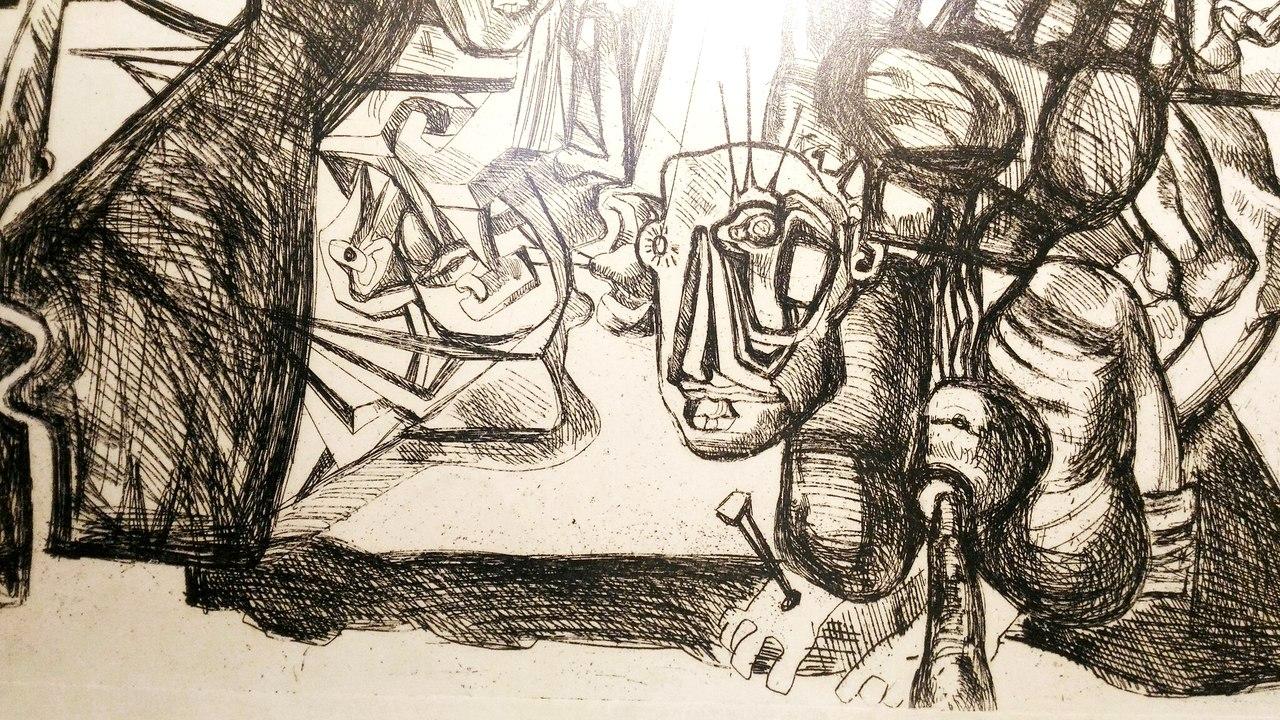 В Воронеж привезли много графических работ скульптора
