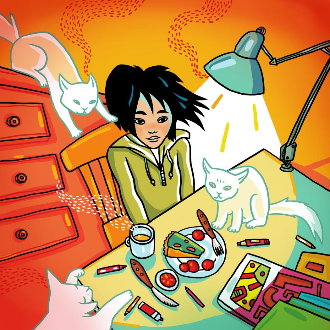 Иллюстрация Яны Франк для авторского календаря