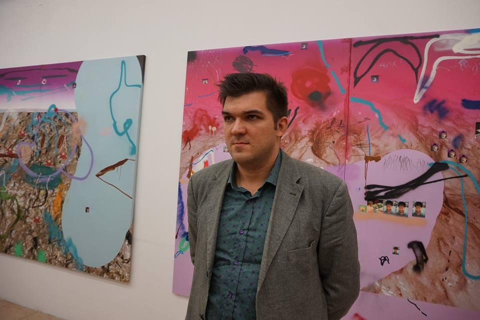 Иван Горшков на открытии персональной выставки в ВЦСИ